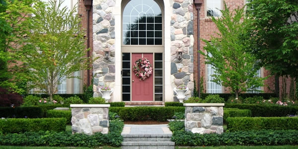 Brick Paver Stairs and Landscaping